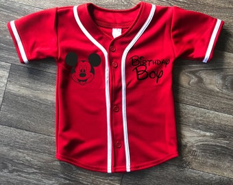 Birthday Baseball Jersey For Toddlers