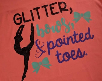 b0a0cb323987 Items similar to Glitter, Bows & Pointed Toes T-Shirt// Sweatshirt ...