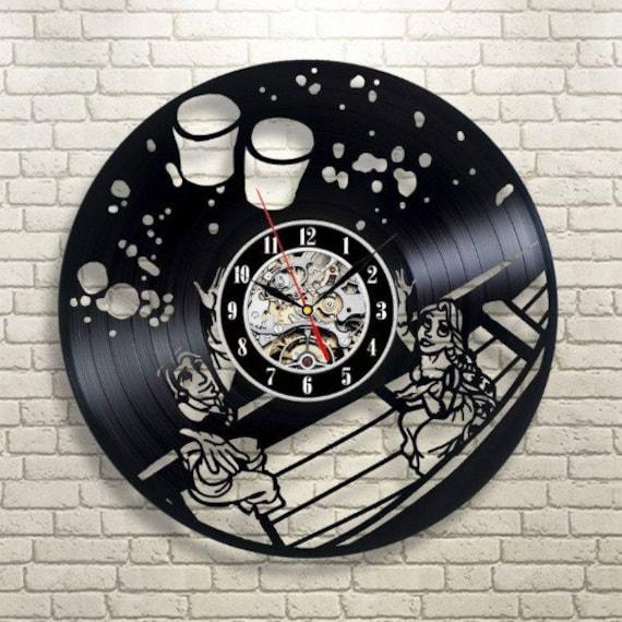 Walt Disney Horloge murale en vinyle superbe id/ée de cadeau de No/ël