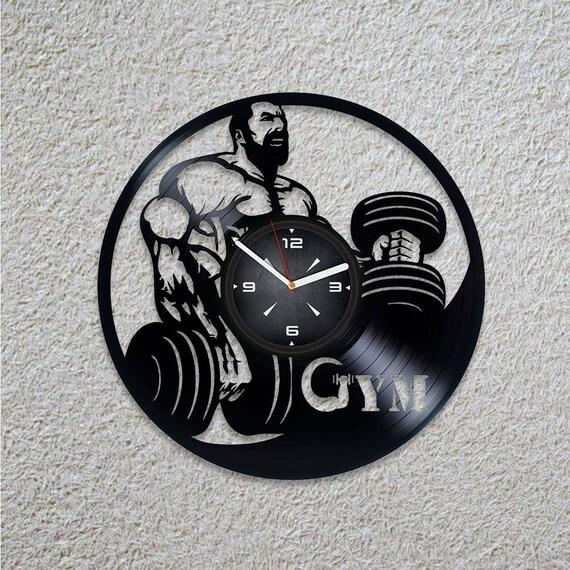 Cadeau Fait Main Retro Mural Horloge Salle De Sport Moderne Art