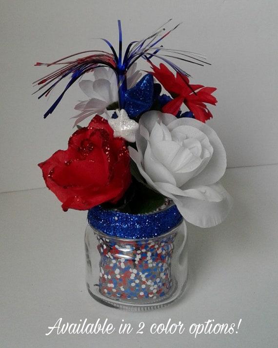 Mini firecracker bouquet patriotic flowers red white blue etsy image 0 mightylinksfo