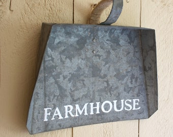 Kitchen Wall Decor, Galvanized Metal Dust Pan, Antique Wall Decor,  Farmhouse Sign