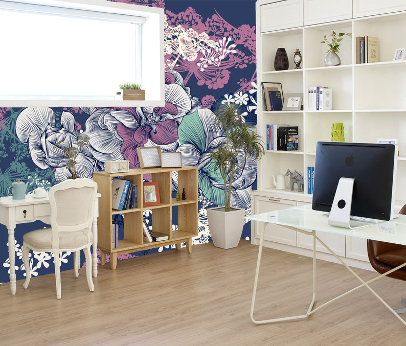 Floral Peel /& Stick or Pre-Pasted Wallpaper Removable Wallpaper Mural Floral Pattern Self Adhesive Easy to Apply!