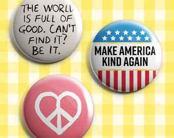Make America Kind Again Pins