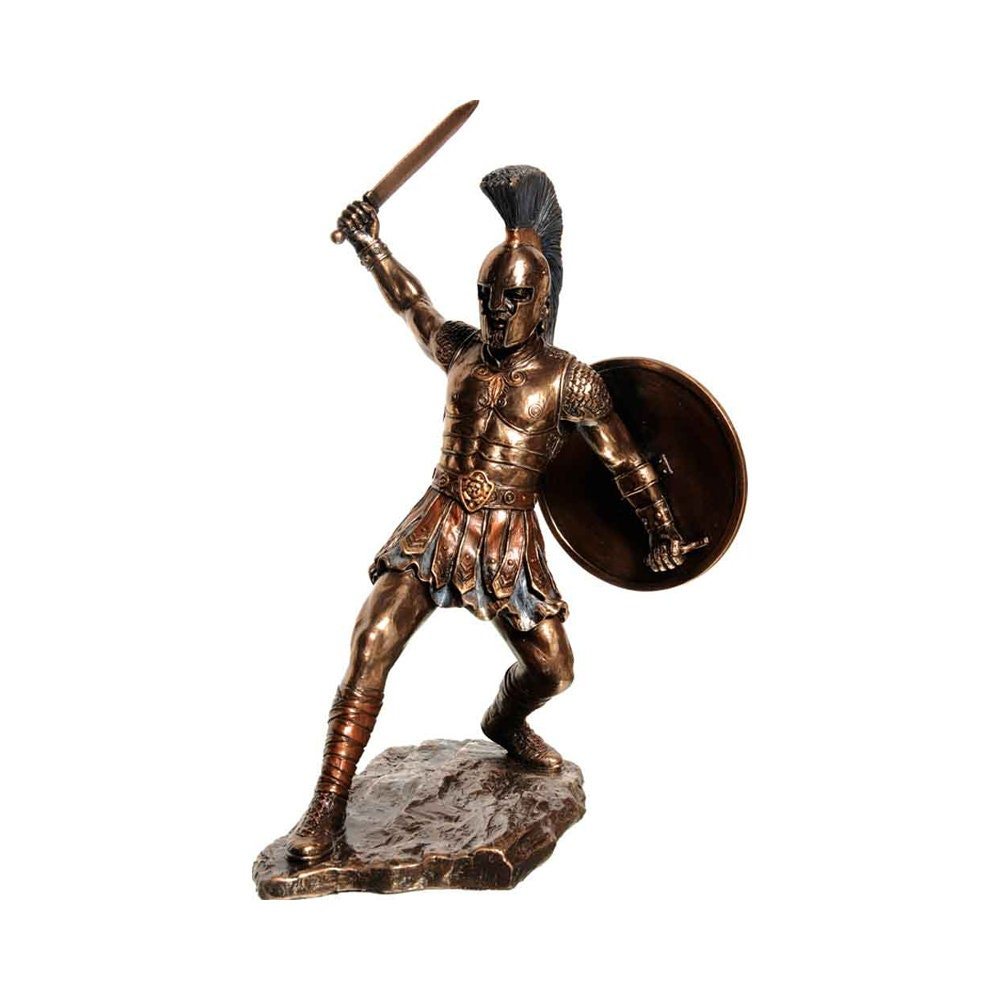 Sculpture Hector Prince Of Troy Hand Made Statue (29 5cm)