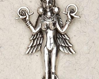 Lilith Goddess Pendant .925 Sterling Silver Babylonian-Sumerian-Judaic
