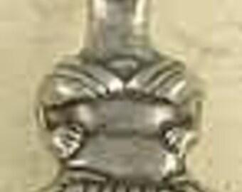 Minoan Snake Goddess in Meditation-Pewter-Greek-Pagan-Religion-Silver-Pendant-Jewelry