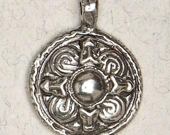 Norse Viking Sheild-Pewter-Medieval-Pagan-Scandinavian-Pendant-Jewelry