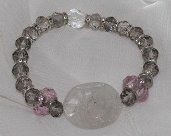 I am Crystal Clear Beaded Bracelet