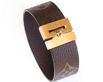 57043565d6104 100% Authentic Louis Vuitton Monogram Canvas Bracelet Wristband Upcycled