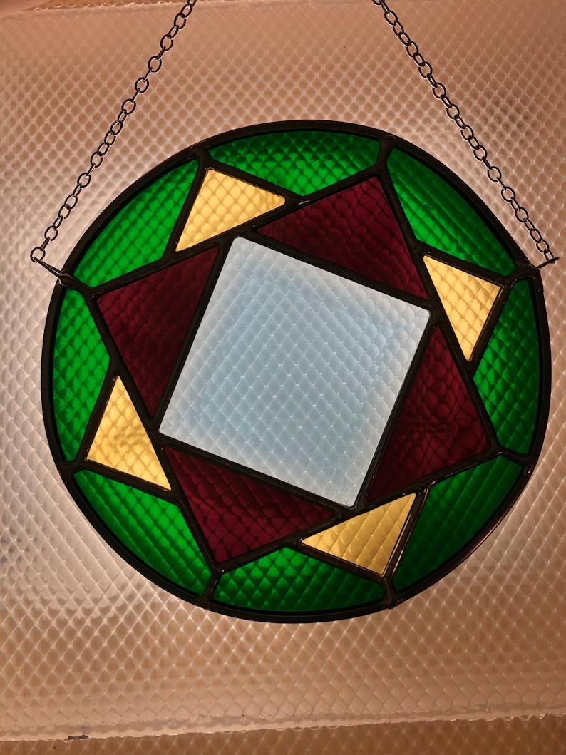 Geometric Bevel Suncatcher