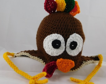 Turkey Hat! (Toddler Sized) Thanksgiving/Autum/Cute/Child/Colorful