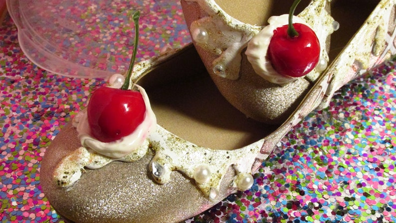 a6589c0339 Ice Cream Shoes Valentine s Day Gift Champagne Glitter
