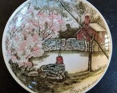 The FRIENDLY VILLAGE - The WELL - Coaster - Johnson Bros - Made in England - Porcelain - Vintage