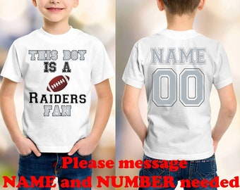 2dcc068c7 Raiders N model 2 customized personalized NAME NUMBER t-shirt clothing kids  shirt children toddler shirt