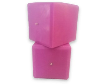 Purple Dragon's Blood 3-inch Pillar Cube Candle, Summer Candles, Autumn Fragrance, Fall Candles