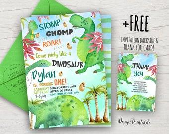 Baby dinosaur invite | Etsy