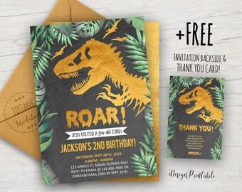 Boy Dino Birthday Party Dinosaur Invitation Dinosaur Birthday Invitation Dinosaur Birthday Dinosaur Party Boy Dinosaur T-Rex
