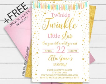 twinkle invitation etsy
