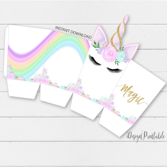 picture regarding Popcorn Box Printable named Do it yourself Rainbow Unicorn Popcorn Box, Unicorn Popcorn Template Quick Down load, Unicorn Social gathering Popcorn, Do it yourself Template, Unicorn Printables, Electronic