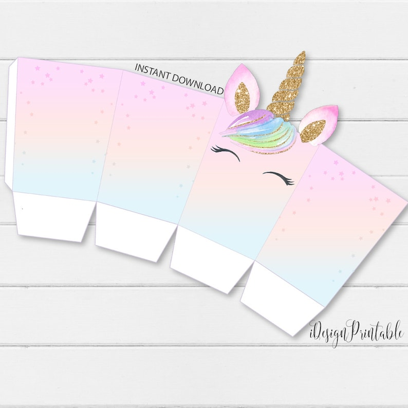 photograph about Popcorn Box Printable named Rainbow Do-it-yourself Unicorn Popcorn Box, Unicorn Popcorn Template Quick Down load, Unicorn Get together Popcorn, Do it yourself Template, Unicorn Printables, Electronic