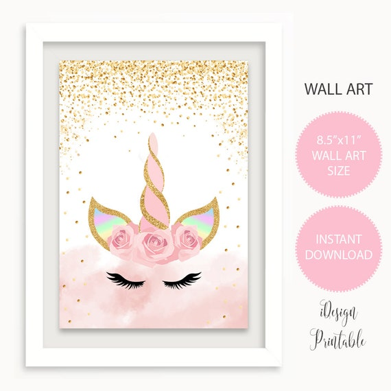 photograph about Unicorn Face Printable identified as Unicorn Confront Print, Gold Glitter, Red Unicorn Printables, Unicorn Nursery Print, Unicorn Women Place Decor Indicator, Unicorn Experience Printable