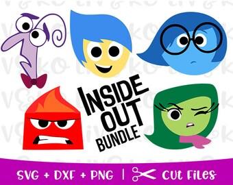 Inside Out Bundle Svg Cut File Silhouette Png Files Cricut