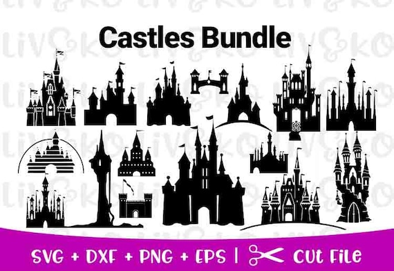 Disney Princess Castle Svg Disney Castle Svg Disney Castle Etsy