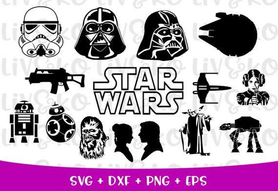 Star Wars Bundle Svg Star Wars Cut File T Shirt Svg Cricut Etsy