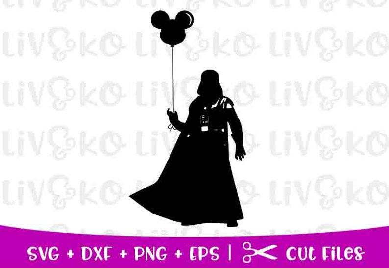 Darth Vader SVG, Star Wars SVG, Disney SVG, Mickey Balloon, Darth Vader Cut  File,T-shirt Svg, Cricut Svg, Silhouette Svg