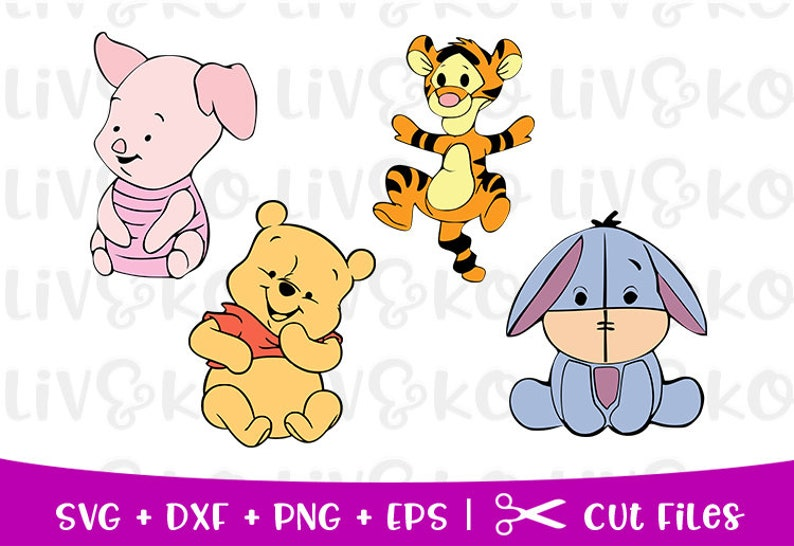Winnie Pooh Baby Svg, Disney Svg, Winnie The Pooh Baby cut Datei, Disney  cut Datei, Svg-Dateien, Cricut Dateien, Kontur-Dateien