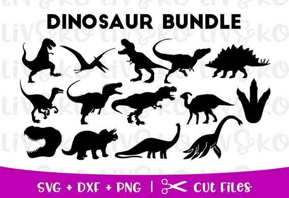 Dinosaur Svg Dinosaur Cut File Dinosaur Silhouette Dinosaur Etsy