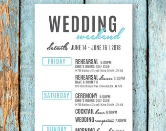 524a37e580197 Personalized Wedding Weekend Schedule