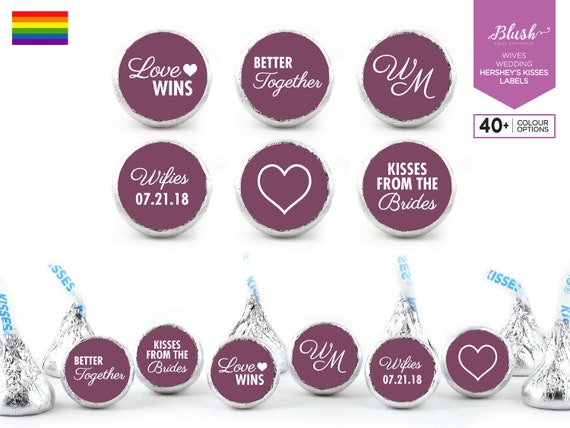 Party Round Candy Sticker Favors Labels Fit Hershey/'s Kisses Gender Reveal 1 Sheet of 108