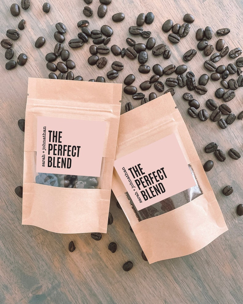 NEW The Perfect Blend Coffee Wedding Favour Bag  Bridal image 0