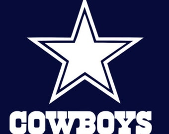 c1e8c0fe Dallas Cowboys Decal for Tumblers, Windows, Cars