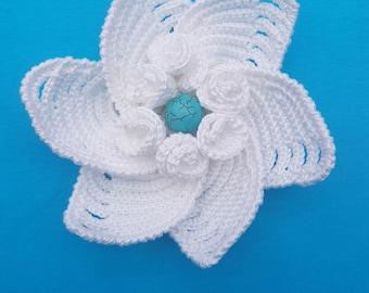 Hand crochete brooch
