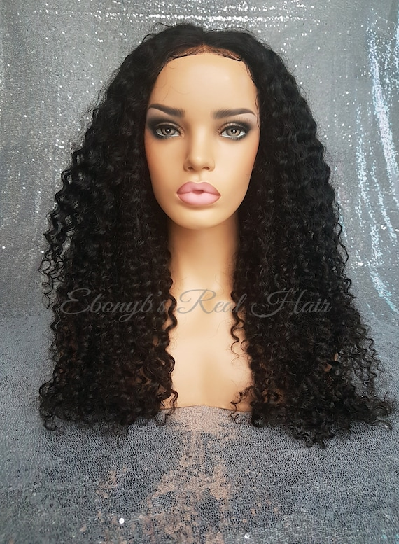 Erica Curly Lace Frontal Wig 100 Human Hair Wigs Wig Etsy