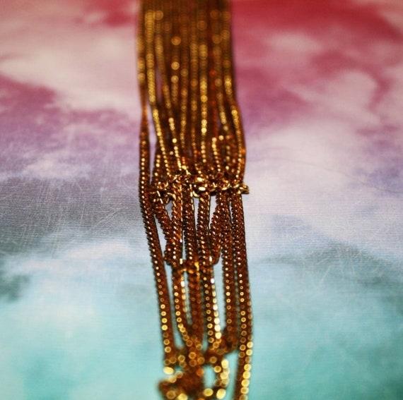Vintage Multi Chain Necklace - image 5
