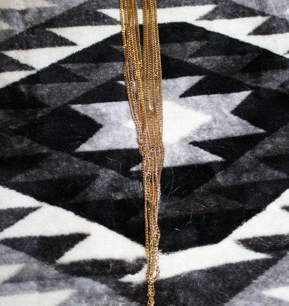 Vintage Multi Chain Necklace - image 3