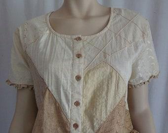 86ce085993f64 EAMZ 226 Sacred Threads Vintage Silk Long Sleeve Lightweight   Etsy