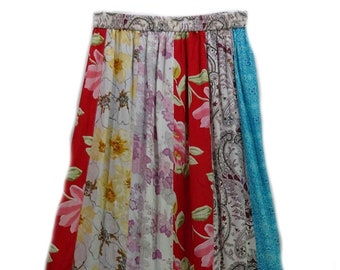 007f294a88 EAMZ 961 Sacred Threads SKIRT Georgette Patched Funky Skirt LONG Medium