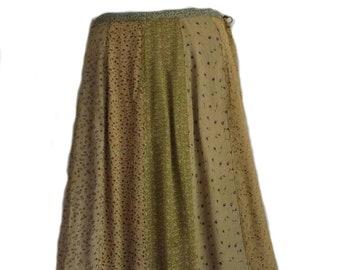 95d073b622 EAMZ 375 SACRED THREADS Neutral Tones Tan Skirt S/M