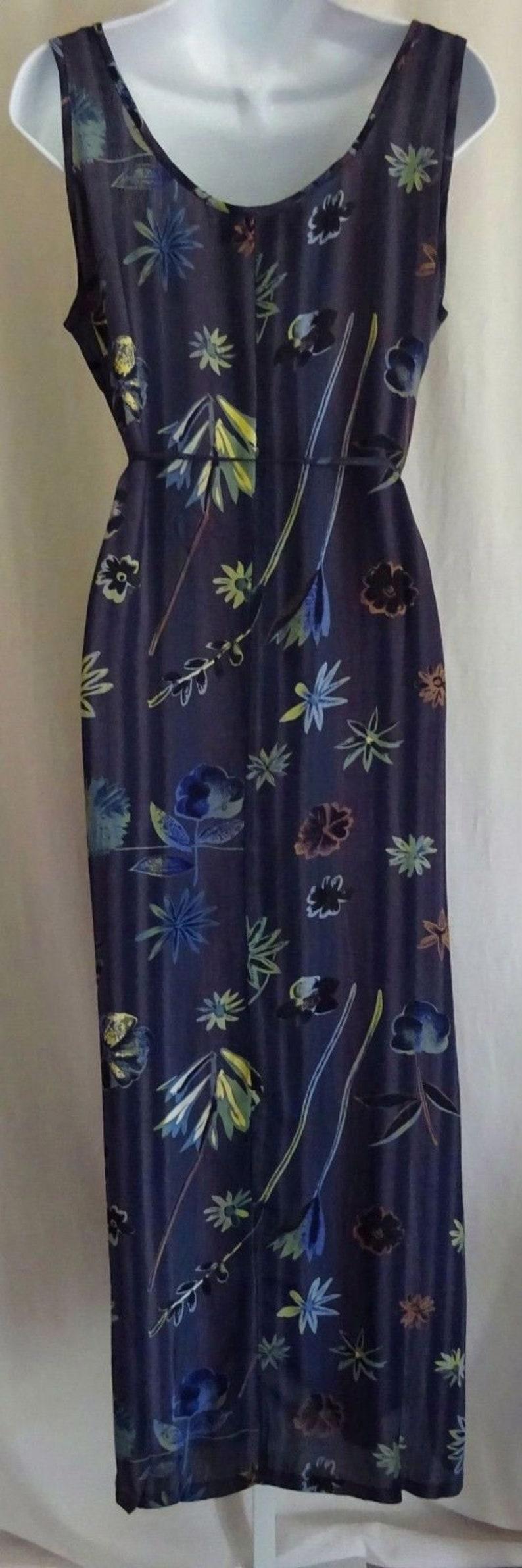 EAMZ AA14 SACRED THREADS Purple Floral Unique Long Dress SM