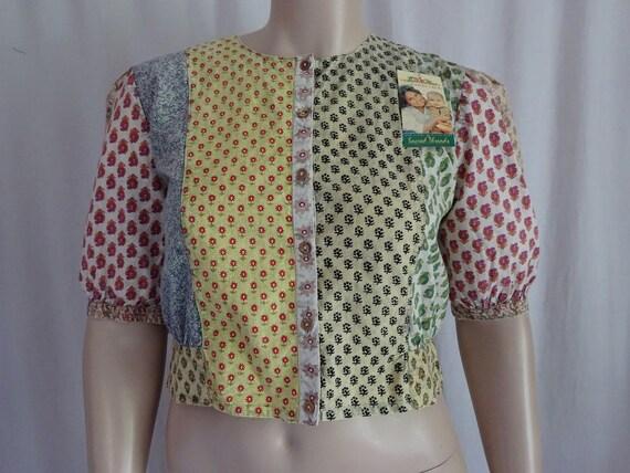 2a9c293ea11f1 EAMZ 574 SACRED THREADS Vintage Cotton Patch Acid Wash Crop Shirt Small