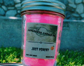 Just Peachy 100% Soy Wax Candle