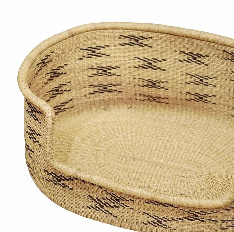 Comfortable Dog Bed Natural Pet Bed African Dog Bed Handmade Dog Bed XL Woven Dog Bed Basket Wicker Dog Bed Dog Basket