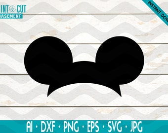 Mickey Mouse Ears Svg, Disney Mickey Mouse Head svg cricut silhouette svg file instant download mickey mouse head svg file