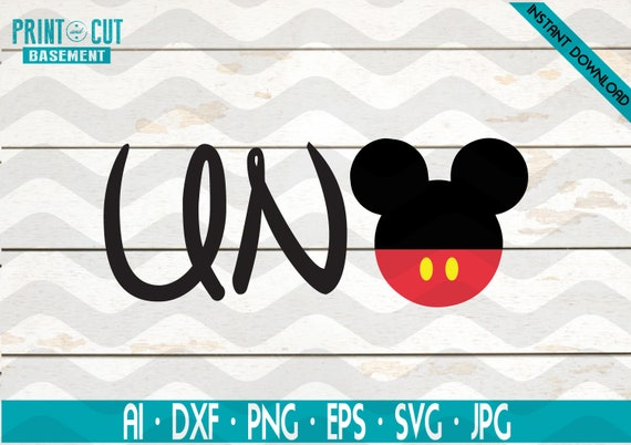 Mickey Mouse First Birthday Uno Svg Spanish Mickey Mouse Etsy