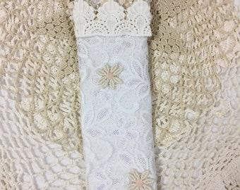 White lace bookmark